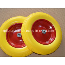 PU Foaming Rubber Wheel Size 400-8, 16*400-8 Tire Wheels