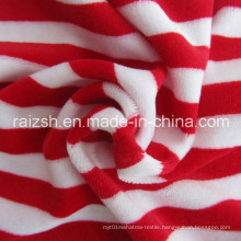 CVC Yarn Dyed Velvet Fashion Fabrics for Wholesale