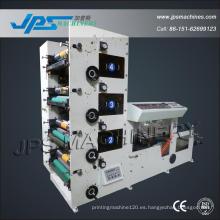 Máquina de impresión transparente del rodillo de la película de los PP Jps600-4c
