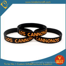 Custom Hot Sale Printed Black Silicone Wristband (LN-015)