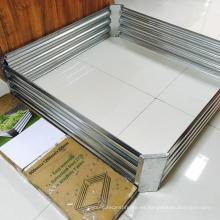 La placa / el jardín aumentados galvanizados de la placa crecen la caja de la cama / del plantador
