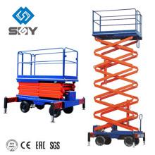 Tabla de elevación de tijera hidráulica móvil, plataforma de elevación de tijera de brazo, plataforma de elevación de tijera mini