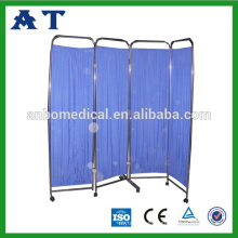4 folding stainless steel medical ward screen for hospital use