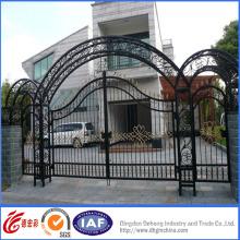 Puerta de seguridad elegante galvanizada de alta calidad del hierro labrado