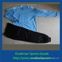 Camiseta de fútbol de calidad superior barata, uniforme del portero del equipo de fútbol del estilo de la moda