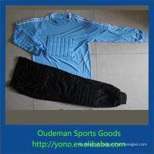 Camisa de futebol de qualidade superior barato, estilo de moda uniforme de goleiro de time de futebol