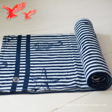 China Factory Wholesale Stripe Blue And white Thick Customized Towels With Tassels