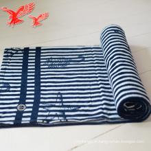 China Fábrica Atacado Stripe Azul E branco Grosso Personalizado Toalhas Com Borlas