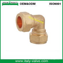 OEM y ODM Calidad de latón forjado compresión Equal Codo (AV7008)