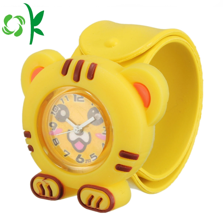 Yellow cat slap bracelet