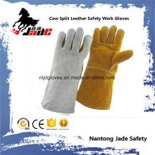 Double Color Rindsleder Industrielles Leder Sicherheitsschweißen Arbeitshandschuh