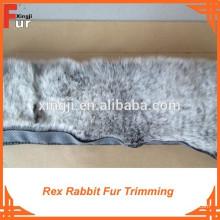Fábrica tingida dois tom cor Rex Rabbit Fur aparar