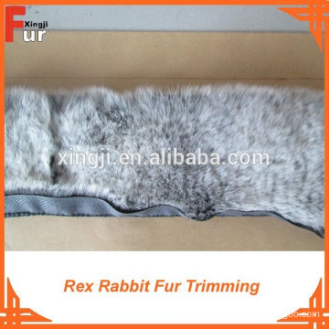 Factory Dyed Two tone color Rex Rabbit Fur Trimming
