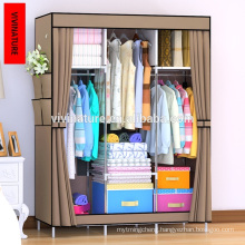 Vivinatur double Canvas woven Wardrobe Clothes Storage Cabinet