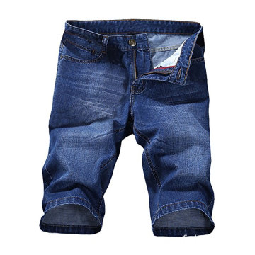 Heren recht slank patroon Denim Jean Capris