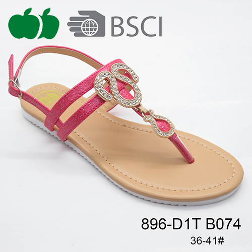 flat sandal with tpr sole