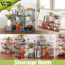 Support en métal de stockage d'étagère de DIY bon marché pour des fleurs