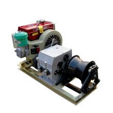Máquina elétrica de tração de cabo Equipamento movido a diesel Guincho elétrico 3T 5T 8T