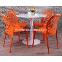 стулья для столовой пластиковые круглые задние полые стулья для столовой на открытом воздухе