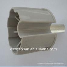 60mm metal rodillo extremo tapón toldo componente-buje de rodillo tubo apoyo-plástico extremo tapón para toldo, cortina accesorios
