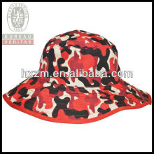 personalized red camo bucket hat