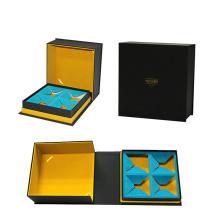 Boîte d'emballage en papier magnétique Quatre sacs à thé personnalisés