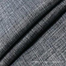 Tissu en denim en polyester Spandex en coton noir et viscose pour jeans