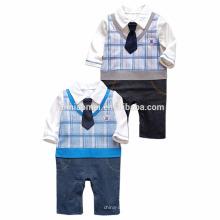 2016 primavera otoño bebé mameluco bebé caballeros precio barato algodón bebé mono venta al por mayor