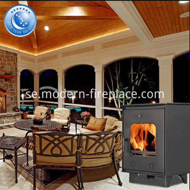 CE Modern Wood Burning Steel Plate Stove