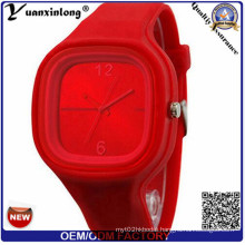 Yxl-985 Hot Sale New Fashion Wristwatches Ladies No Rhinestone Brand Silicone Watch Jelly Sport Quartz Watch for Women Men