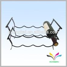 Prateleira de piso livre, revestida, personalizada, de 2 camadas, exposição de vinil de metal