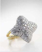 David Yurman Pave Quatrefoil Ring