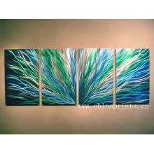 Xiamen Abstract Multipanel Grass Paintings for Living Room