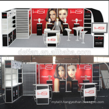Detian Offer 10x20ft Modular Extension Trade Show Booth for Hair product