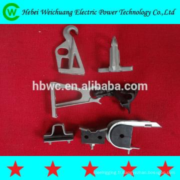 Suspension de pince/isolés collier de câble de haute qualité ads