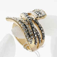 Fashion Personality Hot Sale Promotional gold plated Rings full rhinestone crystal metal alloy finger Ring
