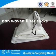 Calcetines de filtro de poliéster no tejido para la industria mineral