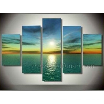 Pure Handpainted Fashion Seascape Sunset Wall Art Painting (SE-179)