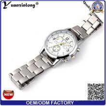 Yxl-665 2016 Neue Uhren Herren Luxus Chronograph Edelstahl Rück Design Uhr für Mann