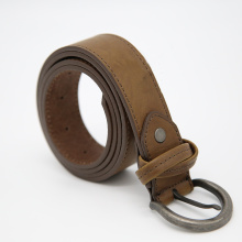 Real Leather Men's Dress Belt Nickle Free Buckle