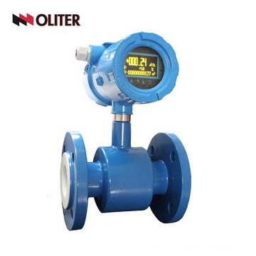 Digital oil milk water sewage magnetic food grade electromagnetic flow meter