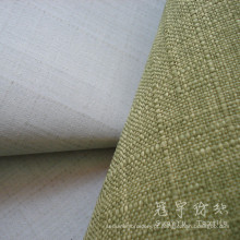 Fr revestido de poliéster tecido de linho para o sofá