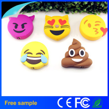 2016 Portátil 2600mAh Cartoon bonito Poops Emoji Power Bank Charger
