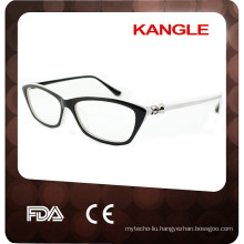 Elegance Lady acetate optical eyeglasses with diamond