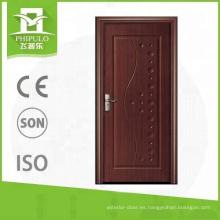 Alibaba último diseño elegante entrada MDF panel melamina puerta de madera