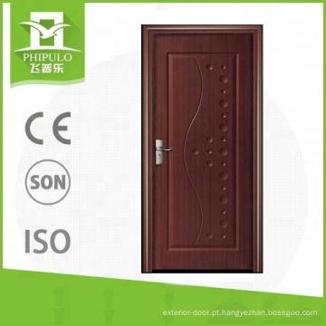 Alibaba mais recente projeto elegante entrada MDF painel melamina porta de madeira