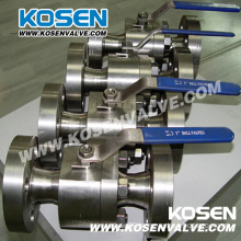 Two Piece Forged Steel Floating Ball Valves