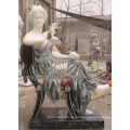 Mix Color Marble Statue Women Figure Sculpture for Garden Stone (SY-C1004A)