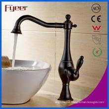 Fyeer Oil Rubbed Bronze Countertop Brass Basin Faucet
