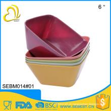 SEBEST utensílios de mesa de melamina por atacado 6 polegada tigela de salada de bambu